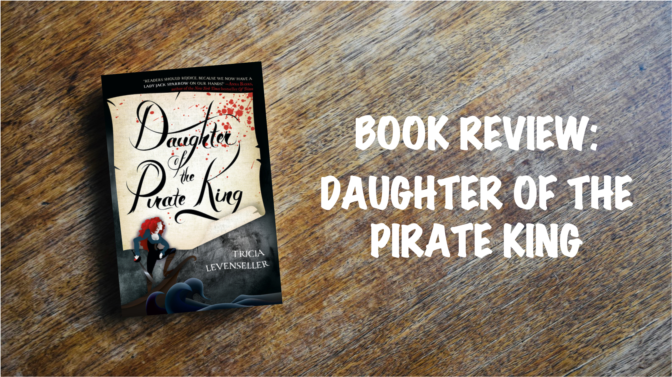 Book review banner: Daughter of the Pirate King