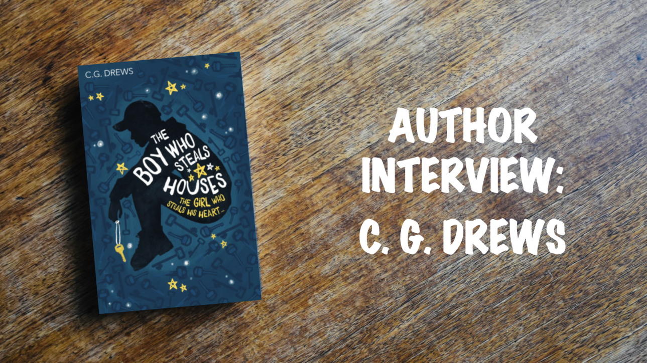 Author interview banner: C. G. Drews