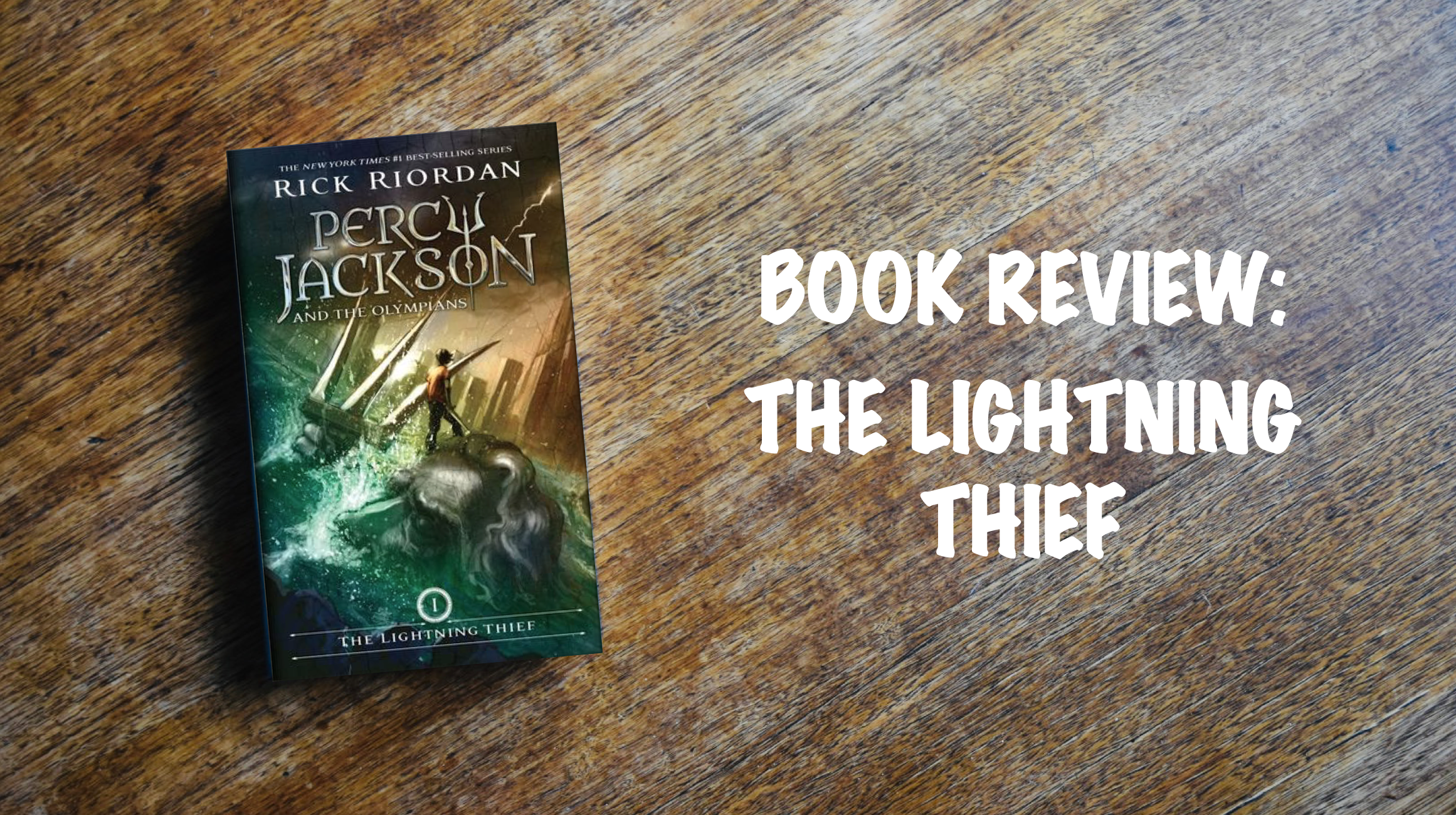 Book Review Banner: The Lightning Thief