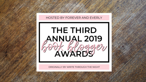 Third Annual Book Blogger Award Nominations 2019 banner