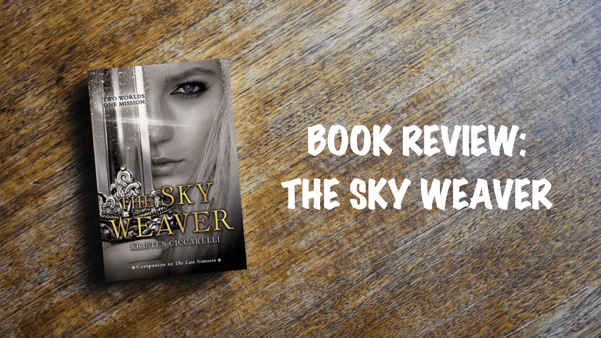 Book review banner: The Sky Weaver